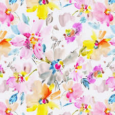 watercolor floral fabric by the yard pink fabric carousel designs