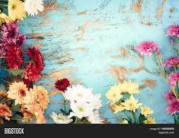 colorful flowers bouquet on vintage image u0026 photo bigstock