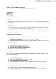 Pharmaceutical Quality Control Resume Sample by Aircraft Quality Control Inspector Resume Contegri Com