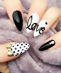 Pic Of Nail Art Designs Best 25 Stiletto Nail Art Ideas On Pinterest Pointy Acrylic