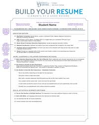 Resume Sample For College by Career Services Center Resumes U0026 Cover Letters University Of