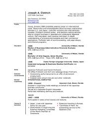 Simple Sample Of Resume Format by Download Basic Resume Template Word Haadyaooverbayresort Com