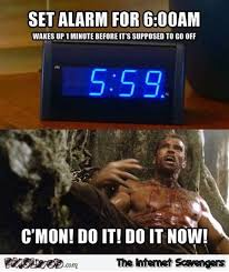 Funny Daily Memes - funny alarm clock meme pmslweb