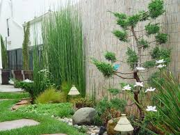 Garden Awesome Garden Design Ideas With Bamboo Fence And Chic