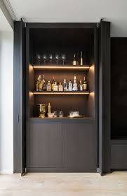 Bar Kitchen Cabinets by Bar Concept Living Dining Off Kitchen In Black Timber Veneer