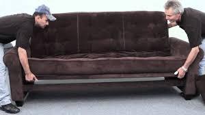 Sofa Sofa Newport Newport Futon Sofa Sleeper Assembly From Big Tree Big Sleep Youtube