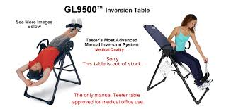 inversion table how to use teeter hang ups gl9500 inversion table