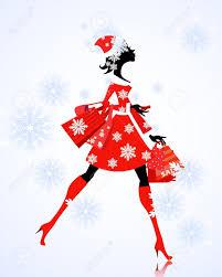 santa with gifts and shopping royalty free cliparts vectors