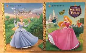 2 golden books walt disney cinderella sleeping beauty