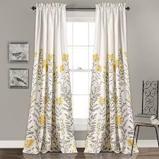 Curtain Panels Three Posts Hilliard Nature Floral Room Darkening Rod Pocket