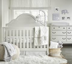 Wendy Bellissimo Baby Clothes Wendy Bellissimo Hudson Grey White Elephant 4 Piece Crib Bedding