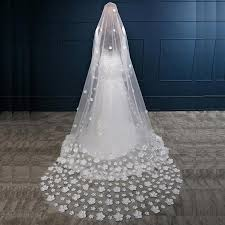 wedding veils for sale exquisite 3d flower bridal veil appliqued flower wedding