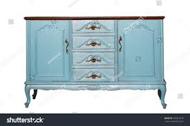 vintage blue wooden dresser isolated on stock photo 547014718