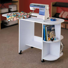 Craft Table Desk White Sewing Machine Craft Table Folding Computer Desk Storage