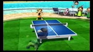 ping pong vs table tennis wii sports resort table tennis match vs lucia chion youtube