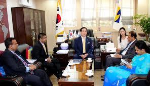 L K He Minister Of Sports Receives 7th Grade Taekwondo Black Belt