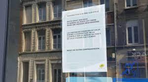 bureau poste lille à cause d un dégât des eaux la poste de la rue d isly fermée