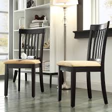 lexington mission style dining chairs set of 2 black walmart com