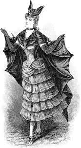 free vintage clip art 2 victorian bat ladies halloween the
