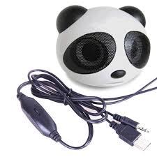 haut parleur pour ordinateur de bureau usb2 0 filaire portable mini panda haut parleur pour ordinateur