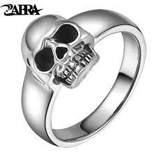 men vintage rings images Zabra real 925 sterling silver punk skull ring men vintage rings jpg