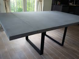 Table Verre Pied Central by Beton Avec Fibre De Verre Paodom Net
