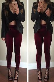 best 25 burgundy leggings ideas on pinterest how to wear