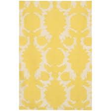 chandra obi 8 u0027 modern yellow rug collectic home