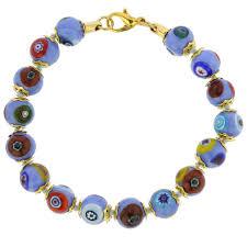 murano bead bracelet images Murano bracelets murano mosaic bracelet periwinkle jpg