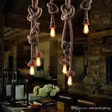 Ceiling Pendant Light Fixtures Vintage Rope Hemp Ceiling Pendant Lights Retro Industrial Loft Bar