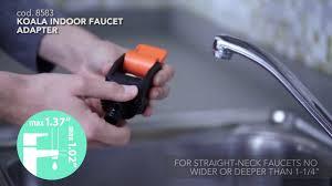 Indoor Faucet To Garden Hose Connector - claber 8583 koala indoor faucet adapter koala quick click youtube