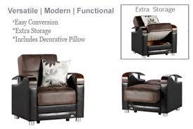 Modern Futon Sofa by Chair Futon Sleeper Luna Chocolate Microfiber Sofa The Futon Shop