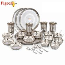 pigeon lunch set pack of 28 dinner set price in india buy pigeon