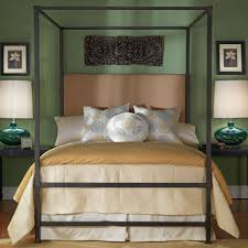 Iron Canopy Bed Quincy Iron Upholstered Canopy Bed By Wesley Allen Humble Abode