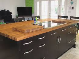 black kitchen island with butcher block top black kitchen island