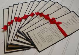 wedding programs with ribbon custom wedding programs ribbon handmade tea length