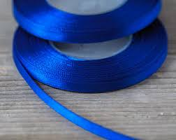 navy blue satin ribbon navy blue ribbon etsy