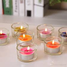 silver tea light holders glass candle holder simple round tealight candle stick clear