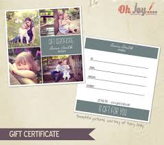 instant download photography gift certificate photoshop template