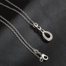white crystal necklace images Wholesale korean style white crystal silver plated pendant jpg