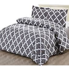 White Down Comforter Set Amazon Com Printed Comforter Set Grey Twin With 1 Pillow Sham