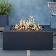 real flame bryon square steel propane fire pit table wayfair