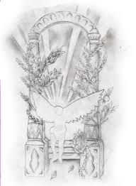 sketch for adding background to old angel tattoo a photo on