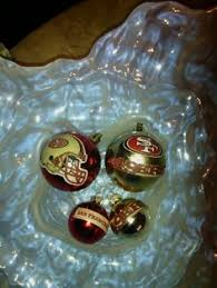 nfl san francisco 49ers 4 ornaments handmade all