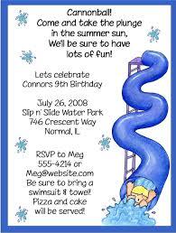 pool summer birthday party invitations