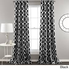 Magnificent Black And White Trellis Curtains Decor with Lush Decor