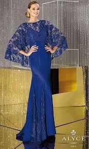 alyce jean de lys 29633 v neck chiffon lace mermaid dress french