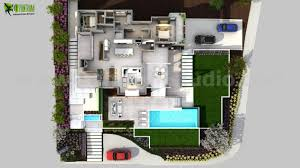 3d floorplan of modern house by yantram floor plan design