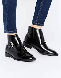 womens boots asos office anthem buckle leather ankle boots asos shoes