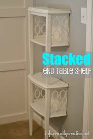 small table with shelves stacked end table shelf hometalk